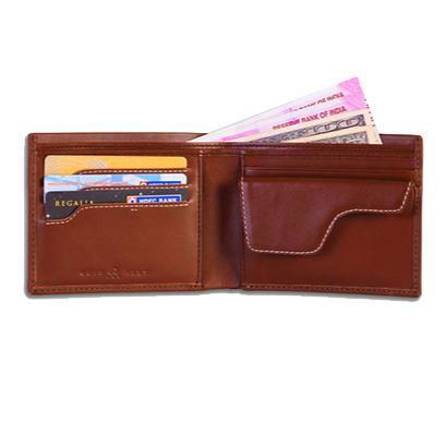01 Tan Explorer Leather Wallet Anti Loss Electronic Smart Tech