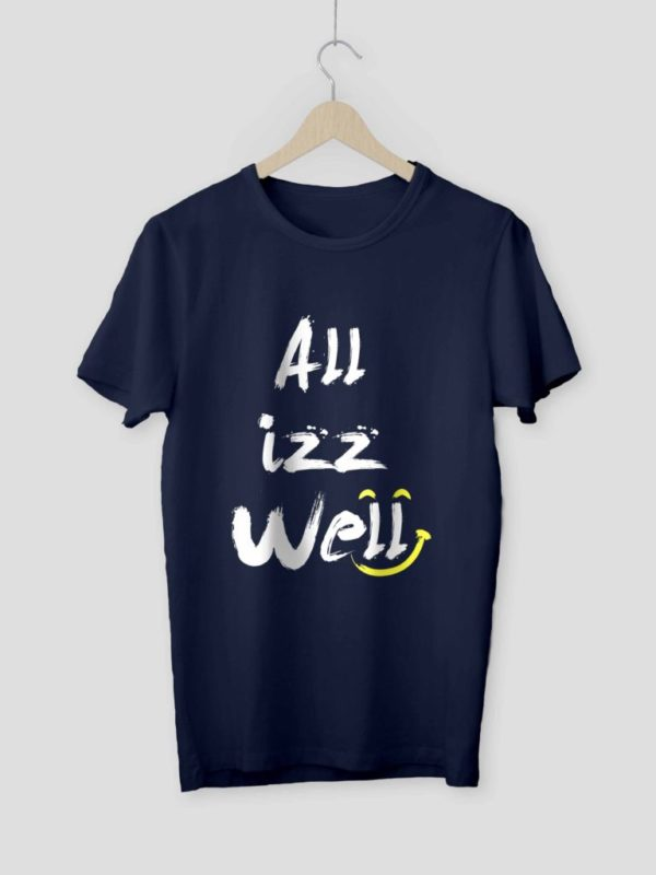 All is Well Navy Blue Mockup Crop