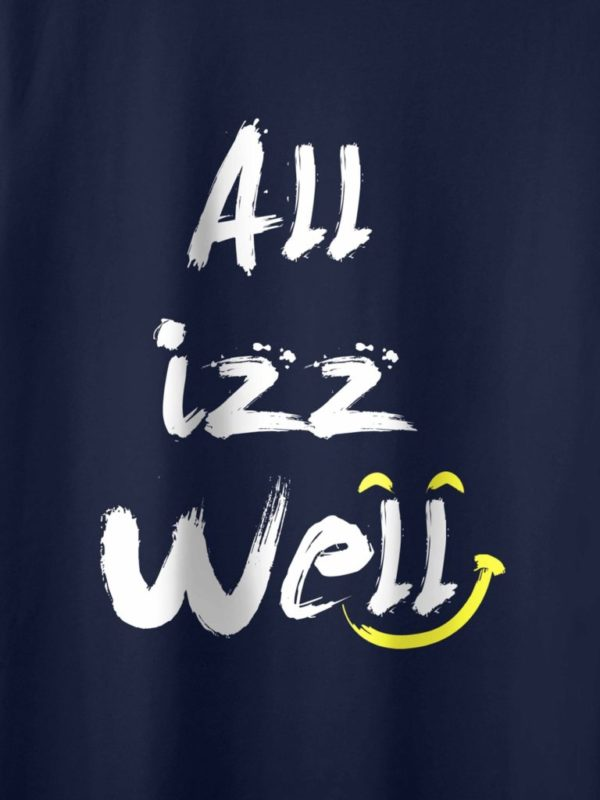 All is Well Navy Blue Mockup Crop Design
