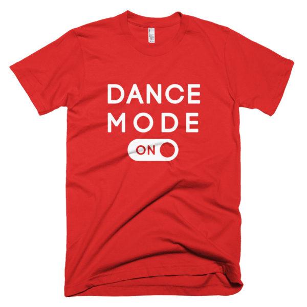 DAnce Mode White mockup Front Wrinkled Red