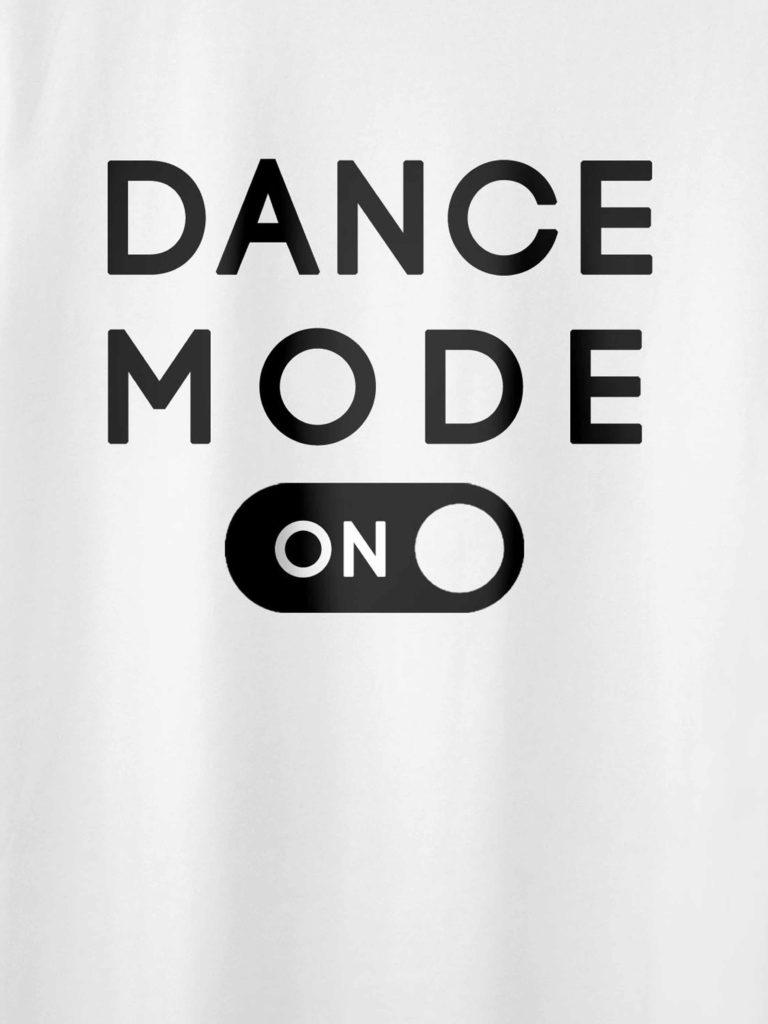 Dance Mode White Crop Design