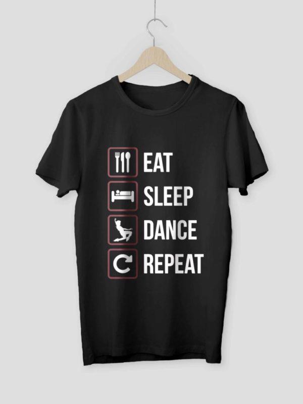 Eat Sleep Dance Repeat Black Crop