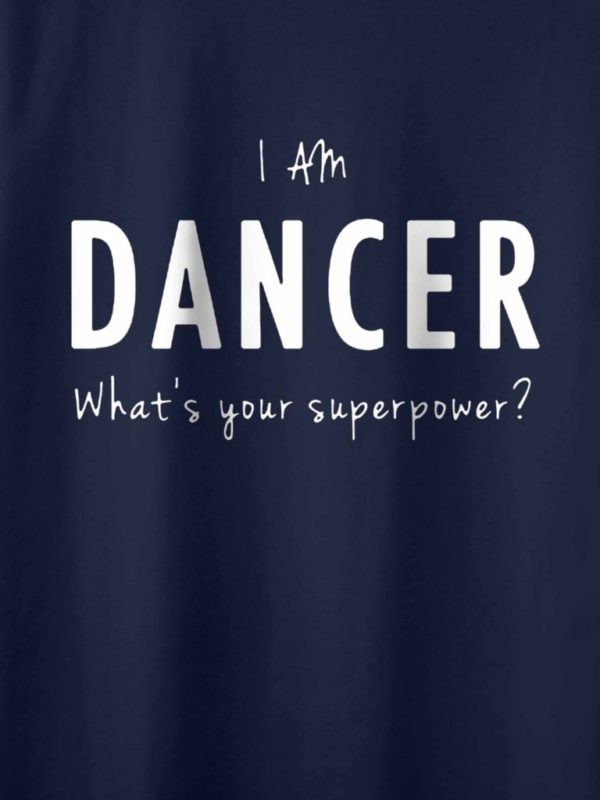 Im am Dancer Navy Blue Crop Design