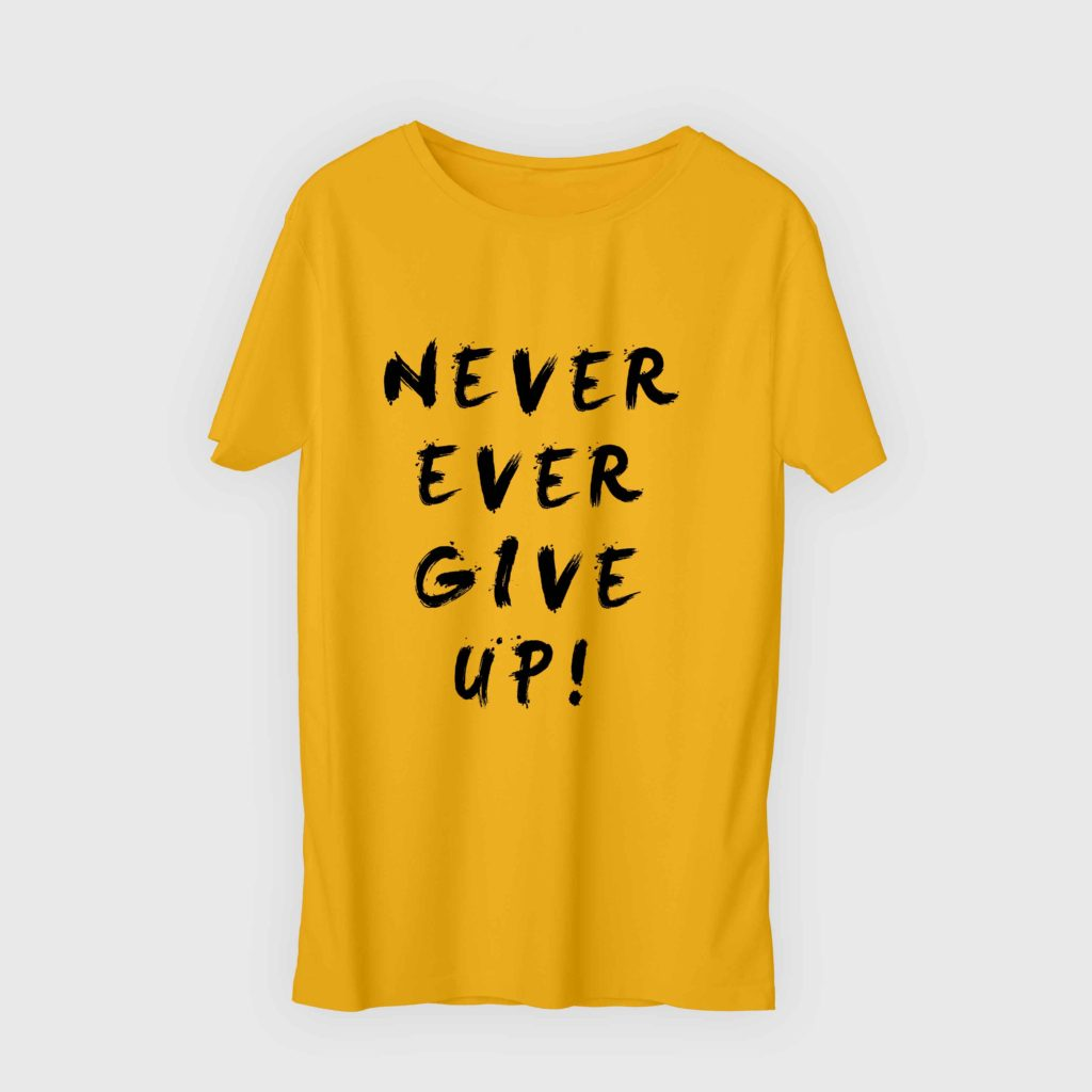 Never Ever Give Up Yellow 1