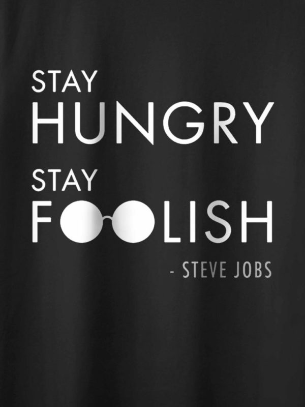 Stay Hungry Stay Foolish Black Crop Design