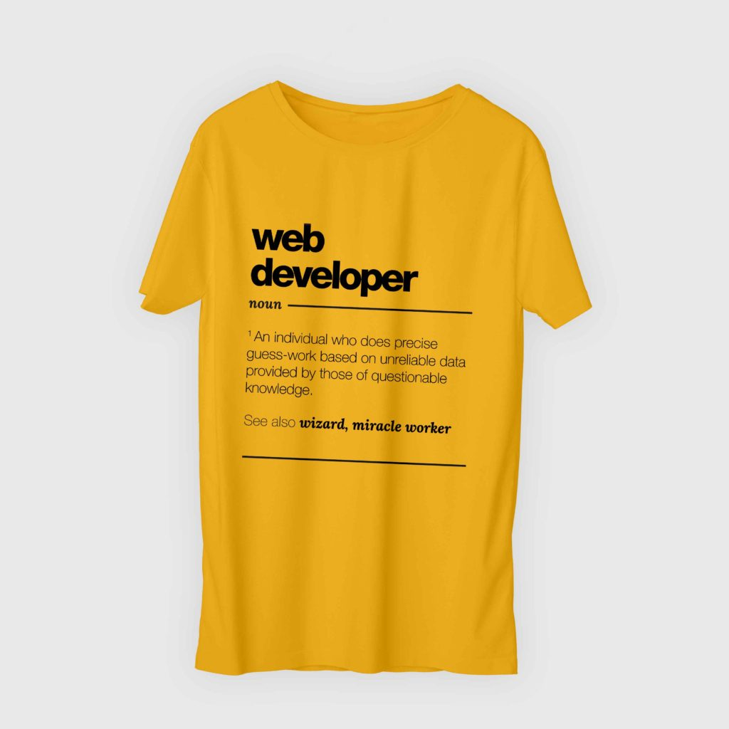 Web Devoloper Yellow 2