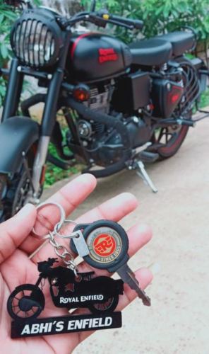 BIKE SHAPE NUMBER PLATE KEYCHAIN photo review