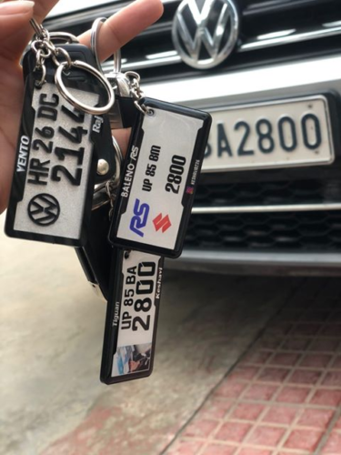 GEL NUMBER PLATE KEYCHAIN photo review