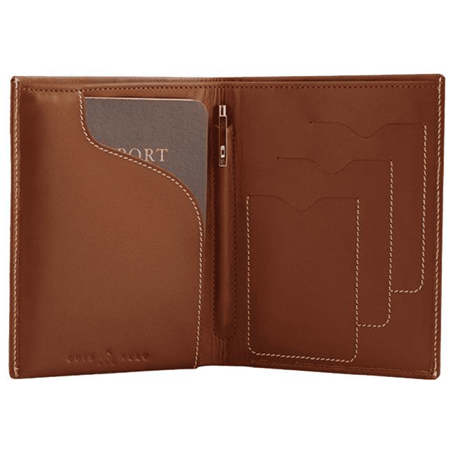 03 Tan Voyager Leather Wallet Anti Loss Electronic Smart Tech