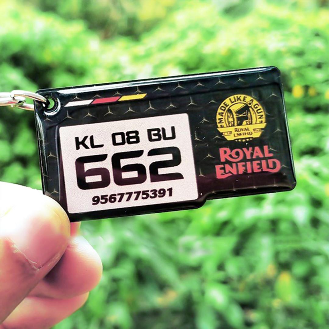 Gel Stylish Squre Royal Enfield Black White Logo