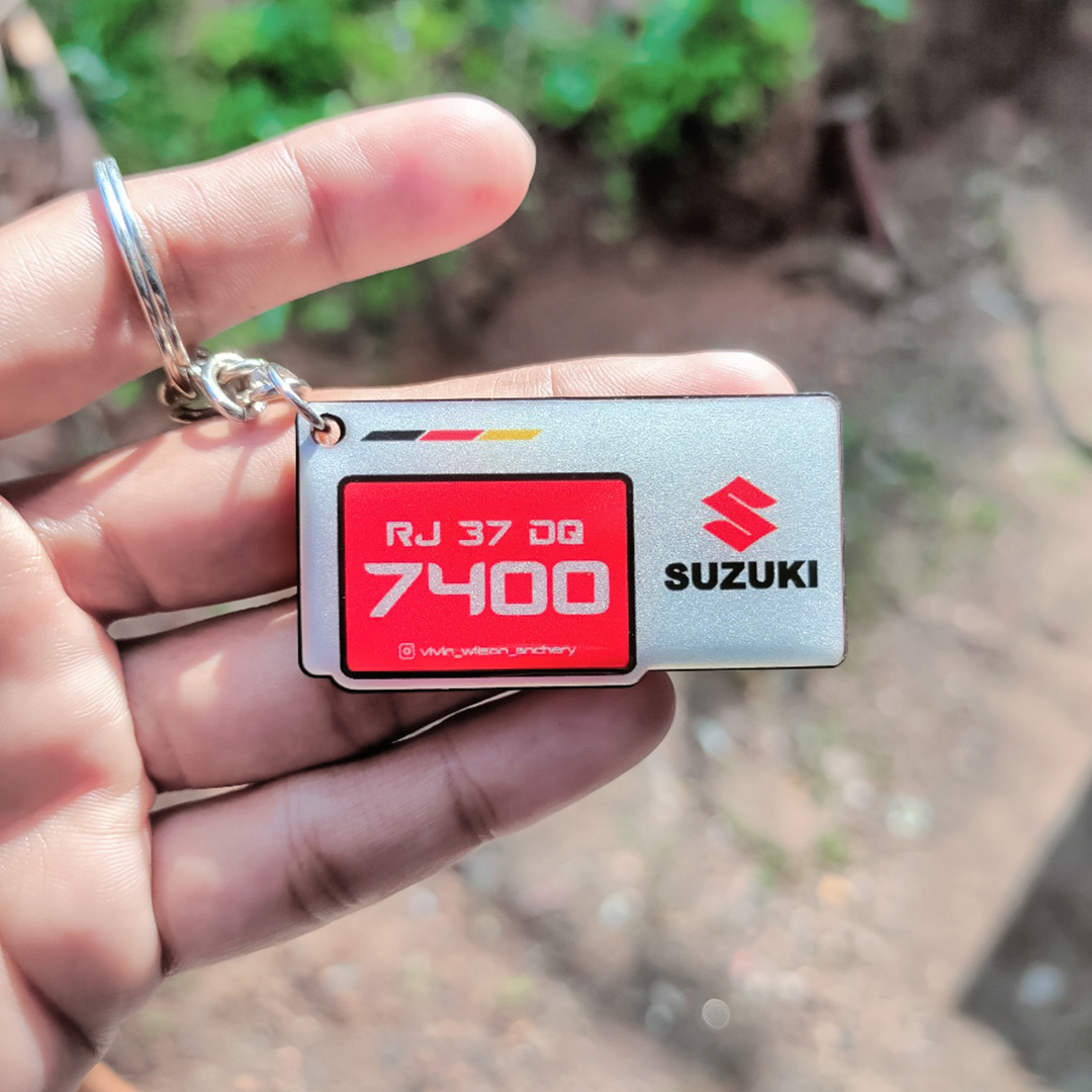 Gel Stylish Squre Suzuki Red Logo